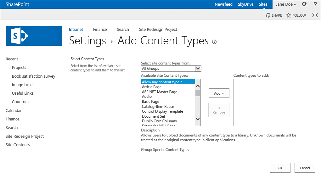 Sharepoint 2013 : Add a Content Type to a List or Document Library ...