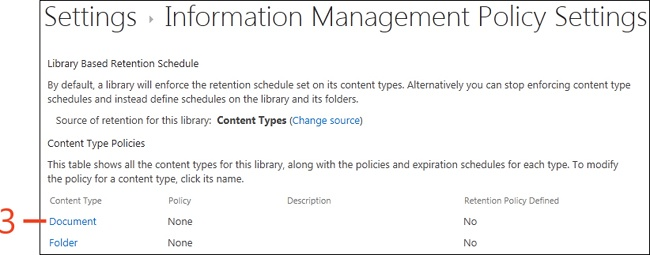 Sharepoint   Creating Content Type Retention Policies On A