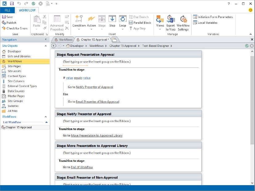Developing Workflow Applications for Sharepoint 2013 (part 2 ...