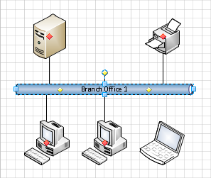 Microsoft visio 2010 building basic network diagrams microsoft your next task will be to connect the laptop to the network but there arent any more control handles below the ethernet segment ccuart Choice Image
