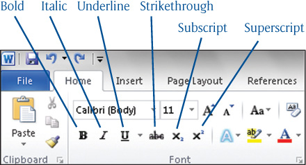 Microsoft word 2010 selecting text attributes part 1 choosing figure 3 applying special text attributes ccuart Choice Image
