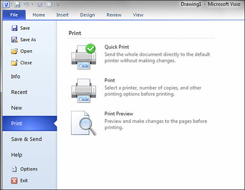 Microsoft Visio 2010 : Printing Basics (part 1) - Printing from the