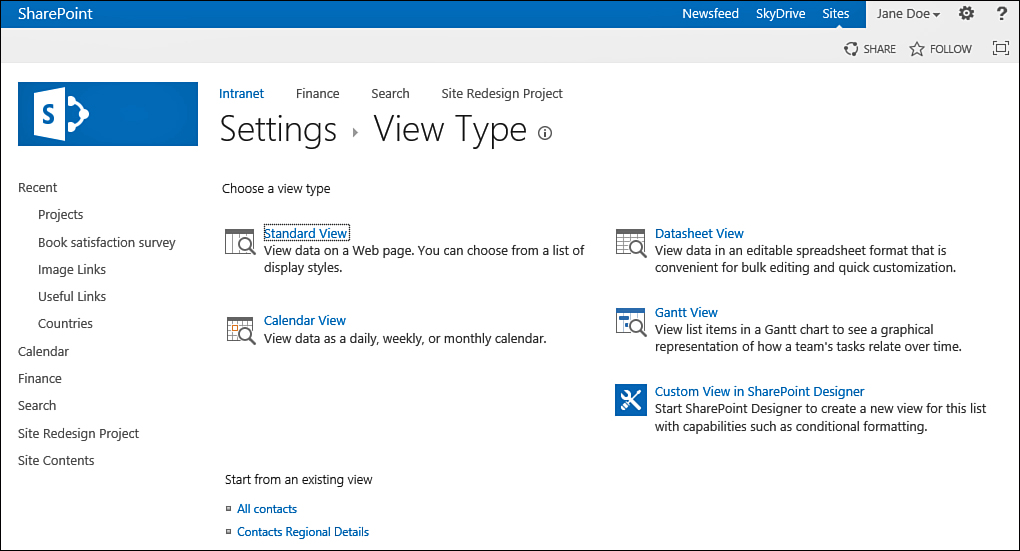 Sharepoint 2013 : Create a Personal or Public View for a List or