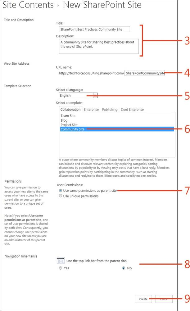 Sharepoint 2013 : Community portals and sites - Creating a