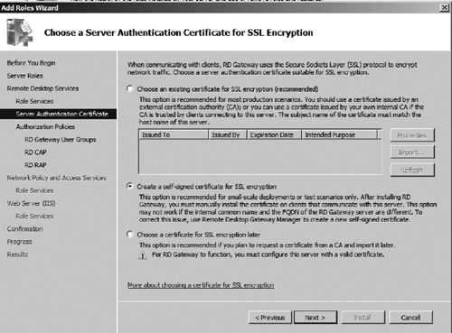 Internal Certificate Authority Windows
