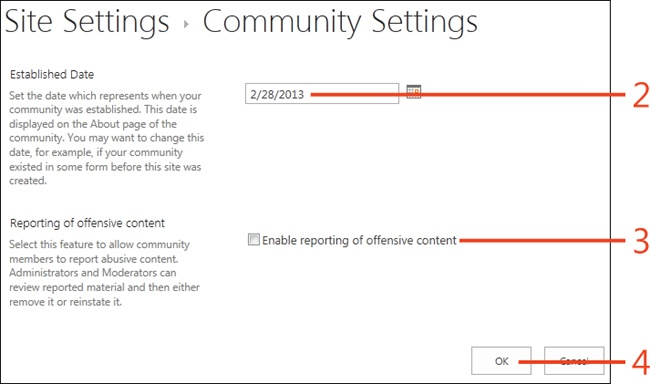 Sharepoint 2013 : Community portals and sites - Managing
