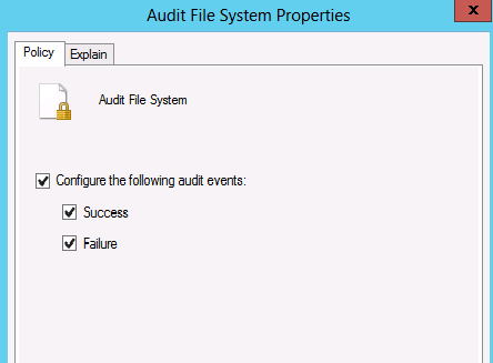 Configuring an audit event in Group Policy Management