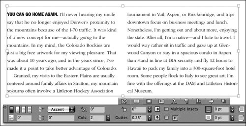 QuarkXPress 8 : Modifying text boxes - Photoshop