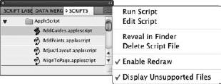 Adobe InDesign CS5 : Using Scripts & Script tips - Photoshop
