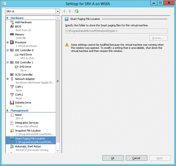 Smart Paging works with Dynamic Memory to enable reliable VM restart operations.