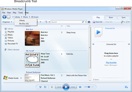 Windows 7 : Windows Media Player - Learning the Basics (part 1