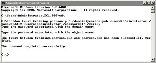 Windows Server 2008 : Using netdom (part 2) - Verifying