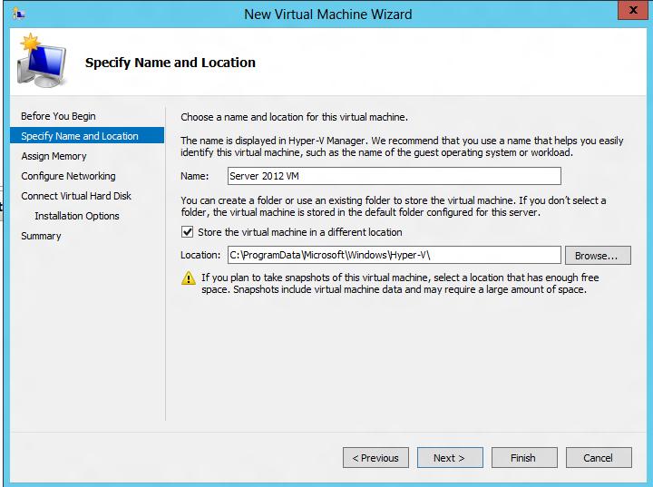 Installing an OS on a VM