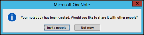 A screenshot of the Microsoft OneNote dialog box.