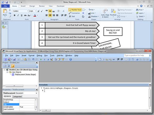 Microsoft Visio 2010 : Introducing Automation and VBA Code (part 1