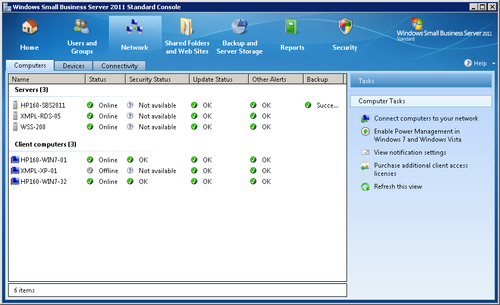Windows Small Business Server 2011 : Managing Computers (part 1