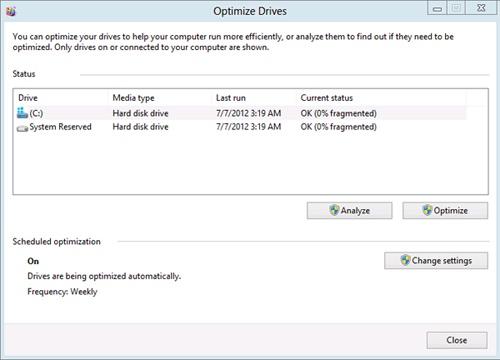 The Microsoft Drive Optimizer
