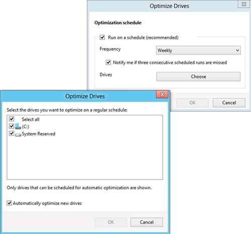 Scheduling drive optimization