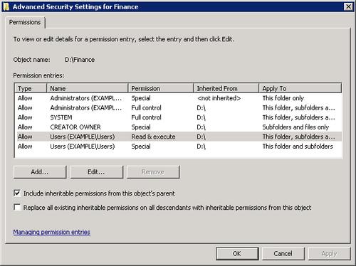 Windows Small Business Server 2011 : Share Permissions vs