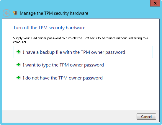 Managing Windows Server 2012 Storage and File Systems : TPM