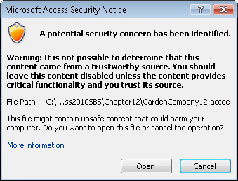Microsoft Access 2010 : Securing Databases for Distribution