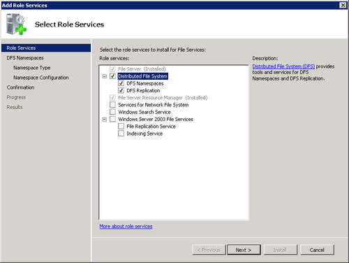 Windows Small Business Server 2011 : Distributed File System (part 1