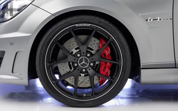 Nineteen-inch aluminum wheels are available in a glossy Titanium Gray or matte black