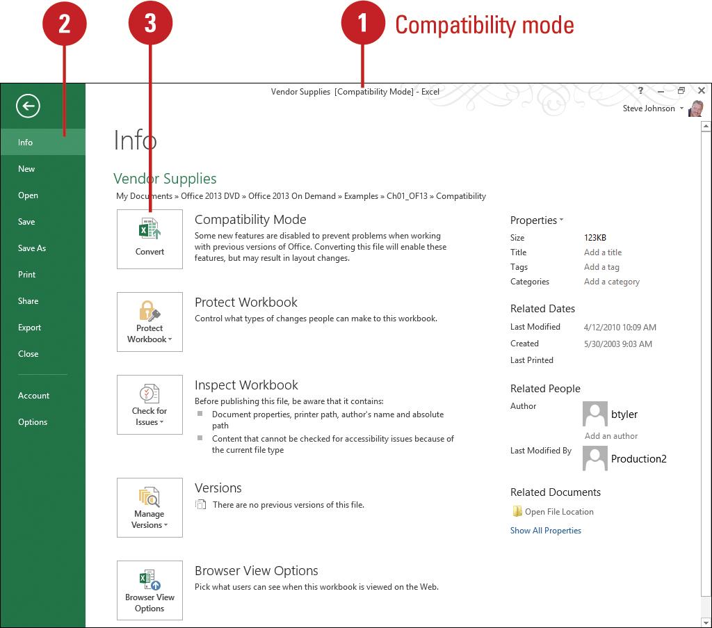 Workbooks microsoft excel 2007 workbook : Microsoft Excel 2013 : Converting an Existing Workbook - Convert ...